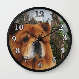 Dog Chow Chow Wall Clock