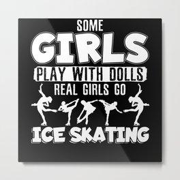 Real Women Do Figure Skating Ice Skating Ice Dance Metal Print
