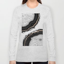 Agate Glitter Glam #2 #gem #decor #art #society6 Long Sleeve T-shirt