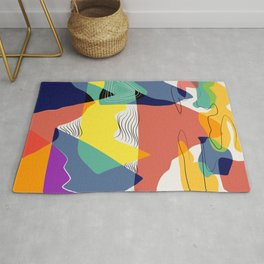 Color of the mountain range Rug