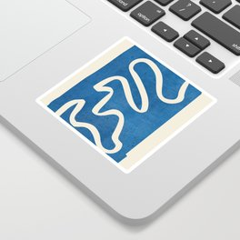 abstract minimal 31/Blue Sticker