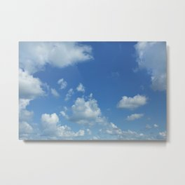 Swedish Summer Sky With Clouds Metal Print