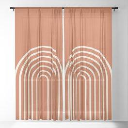Terracota Sheer Curtain