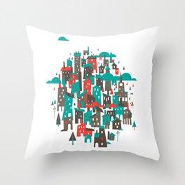 The Town Throw Pillow