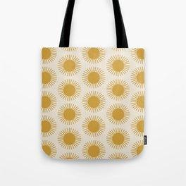 Golden Sun Pattern Tote Bag