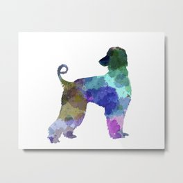 Afgan Hound in watercolor Metal Print