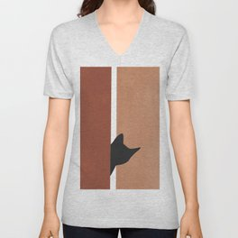 Peeking In Unisex V-Neck