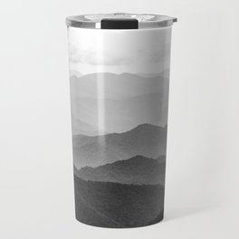 Forest Fade - Black and White Landscape Nature Photography Travel Mug