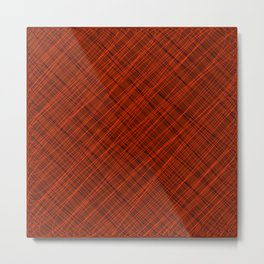 Royal ornament of their red threads and dark intersecting fibers. Metal Print