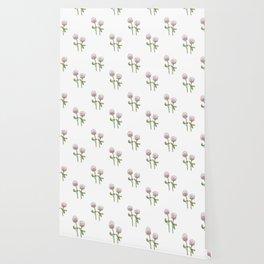 Prairie Clover Flower Pattern Wallpaper