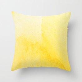 Sunshine Watercolor Throw Pillow