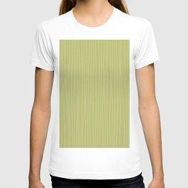 Vertical White Stripes on Light Green T-shirt