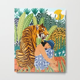 Awaken The Tiger Within #illustration #wildlife Metal Print