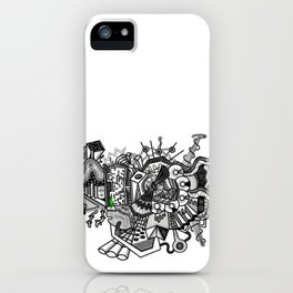 Abstract Alien World iPhone Case