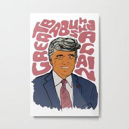 Trump Orange Man 2020 Great Babushka Again Metal Print