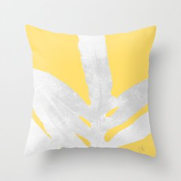 Ferns and Tangerines Throw Pillow