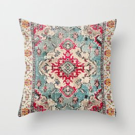 Heritage Farmhouse Style Traditional Oriental Moroccan Artwork Throw Pillow