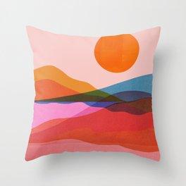 Abstraction_OCEAN_Beach_Minimalism_001 Throw Pillow