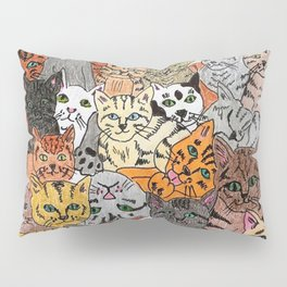 Cats, cats and more cats Pillow Sham