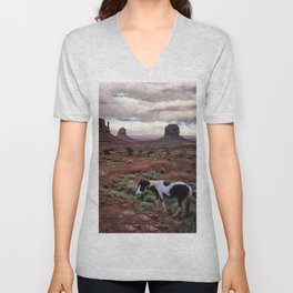 Horse in the Valley Unisex V-Neck
