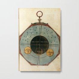 Peter Apian - Astronomicum Caesareum 1540 - Plate 23 Illustration of the Partial Eclipse, November 5 Metal Print