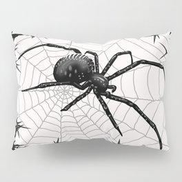 Briar Web- Black and White Pillow Sham
