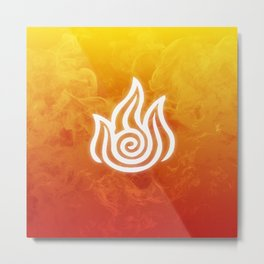 Avatar Fire Bending Element Symbol Metal Print