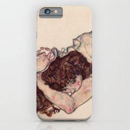 "Egon Schiele ""Kneeling Girl, Resting on Both Elbows"" iPhone Case"