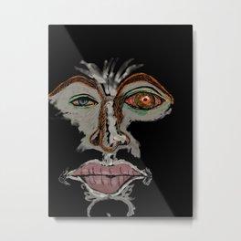 Lefty Metal Print
