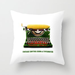 ORGANIC INVENTIONS SERIES: Vintage Smythe-Corn-A Typewriter Throw Pillow
