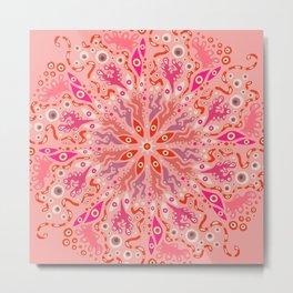 Mystical Eye Mandala Metal Print