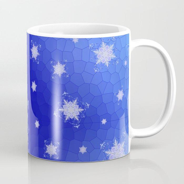 Snowflake Pattern - Bladed Sky Coffee Mug