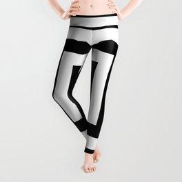 Classic Black White Squares Leggings