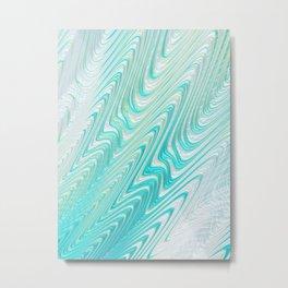 Teal Dreams Collection (4) - Fractal Art  Metal Print
