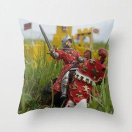 Castle under siege Throw Pillow