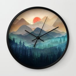 Wilderness Becomes Alive at Night Wall Clock