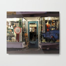 Local Shop at Night Metal Print