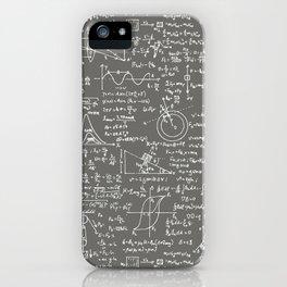 Physics Equations // Slate Grey iPhone Case