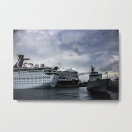 Port of Call...Nassau Metal Print