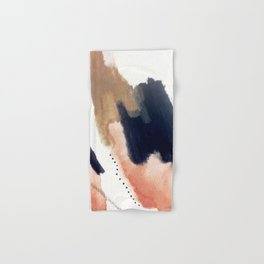 Drift Away [2] - a mixed media abstract piece in pink, brown, and purple Hand & Bath Towel