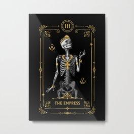 The Empress III Tarot Card Metal Print
