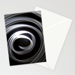 Large spiral light abstract Stationery Cards