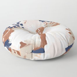 Sonia - rose gold navy copper modern abstract rosegold trendy pattern cell phone accessories Floor Pillow