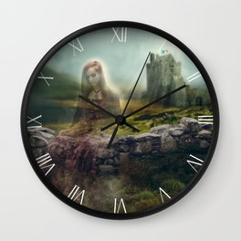 Twas Better To Die Neath An Irish Sky Wall Clock