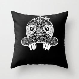 Sloth Sloth Baby Sloth Mandala Throw Pillow