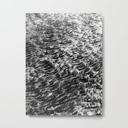 Sand Pattern Craters  Metal Print