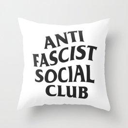 Anti Fascist Social Club Throw Pillow