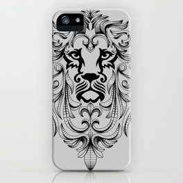 Heraldic Lion Head iPhone Case