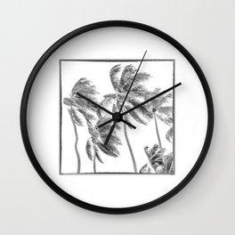Haiti, Coconut Palms on the Caribbean Sea Wall Clock