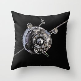 1424. Soyuz TMA-10M spacecraft approach to ISS Throw Pillow